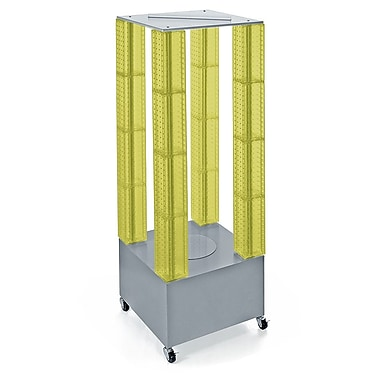 Azar Displays Multi-Tower Pegboard Floor Display, Yellow (700228-YEL)