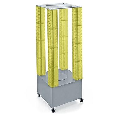 Azar Displays – Présentoir de plancher à tours multiples à panneaux perforés, jaune (700228-YEL)