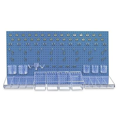 Azar 24 x 48-inch Blue Pegboard Organizer Kit Each