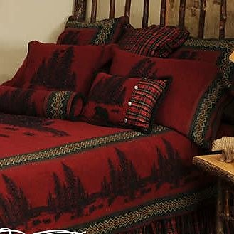 Wooded River Wooded River Bear Bedspread; Queen
