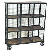 Crestview Industria Cube Unit Bookcase