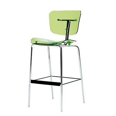 Segis U.S Slide Bar Stool; Green