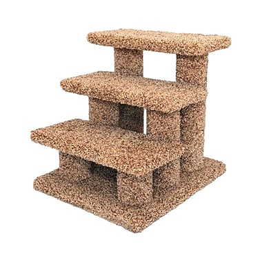 New Cat Condos Premier 21'' Post Stairs; Brown