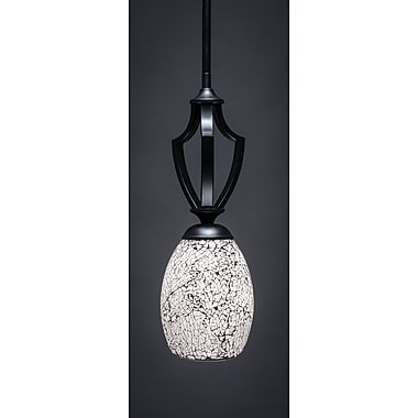 Toltec Lighting Zilo 1-Light Mini Pendant; Matte Black