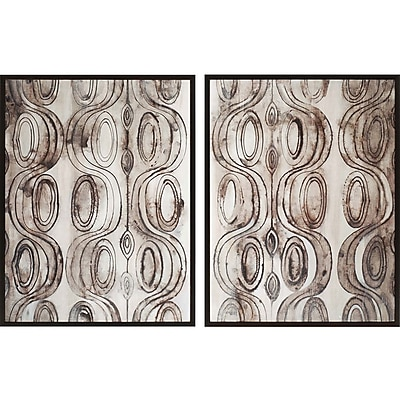 Paragon Entwined 2 Piece Painting Print Plaque Set