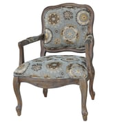 Crestview Hillcrest Rustic Frame and Pattern Arm Chair