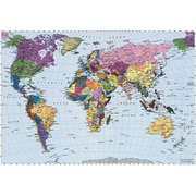 Komar – World Map, murale de 74 x 106 po
