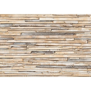 Komar Whitewashed Wood Wall Mural, 100