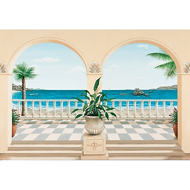 Ideal Decor Terrasse Provencale Wall Mural, 100