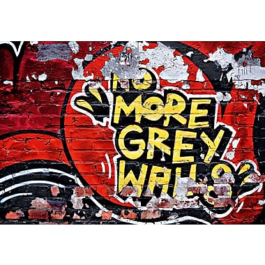Ideal Decor No More Grey Walls Wall Mural, 100