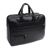 Bond Street Synthetic Leather Briefcase, Black