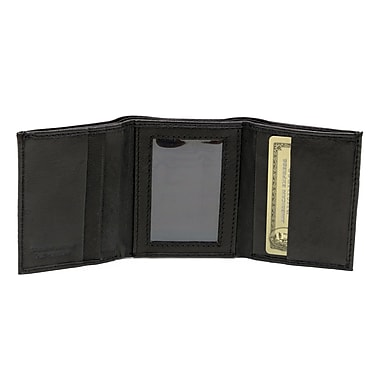 Ashlin Genuine Leather Bryson Men's Tri-Fold Wallet, Black