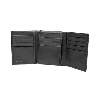 Ashlin Genuine Leather Reed Men's Tri-Fold Wallet, Black