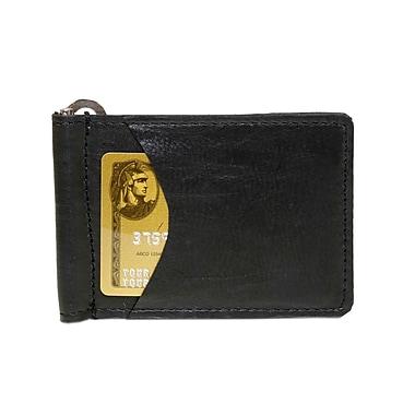 Ashlin Genuine Leather Goodstone Men's Money Clip, Black