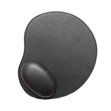 Ashlin - Tapis de souris ergonomique en cuir véritable, 10 po x 8,5 po, noir