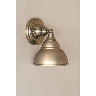 Toltec Lighting 1-Light Wall Sconce; Brushed Nickel