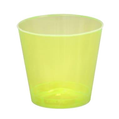 Fineline Settings, Inc Savvi Serve 1 oz. Plastic Shot Glass (2500 Pack); Yellow
