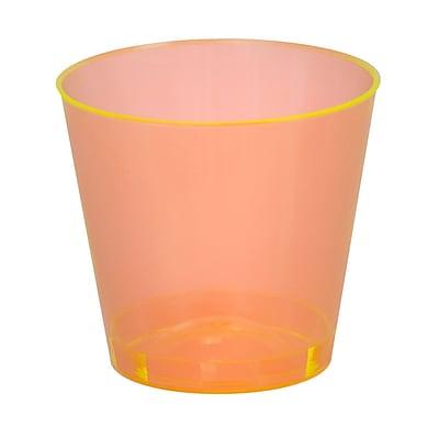 Fineline Settings, Inc Savvi Serve 1 oz. Plastic Shot Glass (2500 Pack); Orange