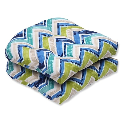 Pillow Perfect Marquesa Marine Indoor/Outdoor Dining Chair Cushion (Set of 2)