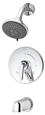 Symmons Elm Pressure Balance Tub and Shower Trim w/ Lever Handle; Chrome