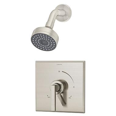 Symmons Duro Pressure Balance Shower Faucet Trim w/ Lever Handle; Satin Nickel
