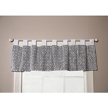 Trend Lab Ombre Gray Greek Key Curtain Valance