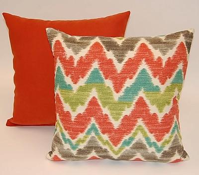 Dakotah Pillow Timissa 2 Piece Knife Edge Cotton Throw Pillow Set; Sunset