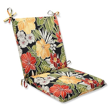 Pillow Perfect Clemens Noir Outdoor Lounge Chair Cushion