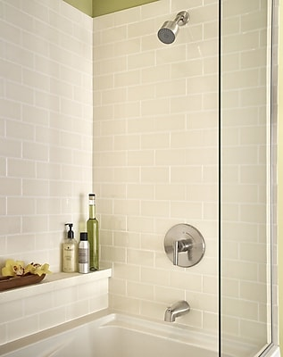 Symmons Dia Pressure Balance Tub and Shower w/ Lever Handle; Satin Nickel