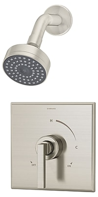 Symmons Duro Pressure Balance Shower Faucet w/ Lever Handle; Satin Nickel