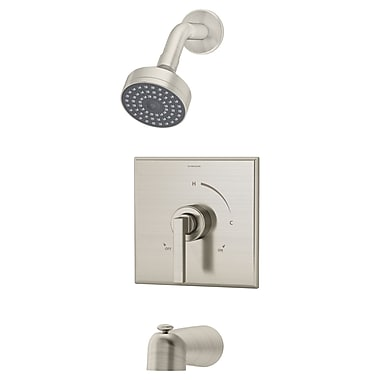 Symmons Duro Pressure Balance Tub and Shower w/ Lever Handle; Chrome