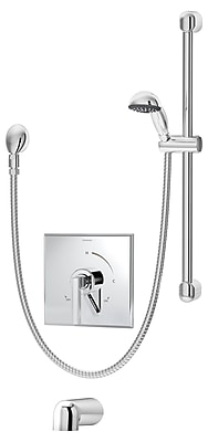 Symmons Duro Pressure Balance Tub and Hand Shower System w/ Lever Handle; Chrome