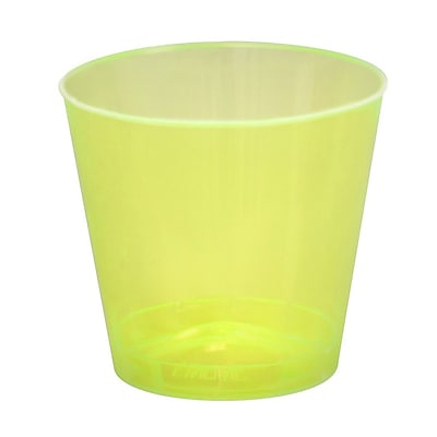 Fineline Settings, Inc Savvi Serve 2 oz. Plastic Shot Glass (2500 Pack); Yellow