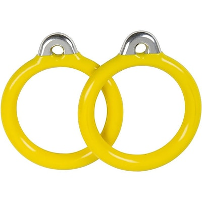Swing Set Stuff Commercial Coated Round Trapeze Rings (Set of 2); Yellow