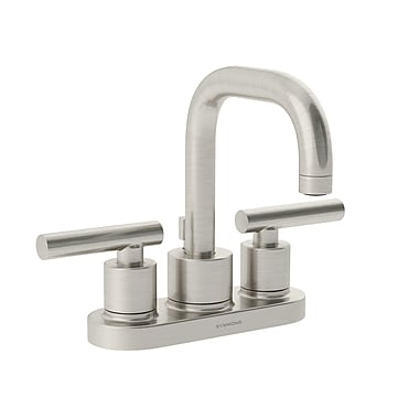 Symmons Dia Double Handle Centerset Faucet; Satin Nickel