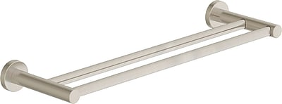 Symmons Dia Double 18'' Wall Mounted Towel Bar; Satin Nickel