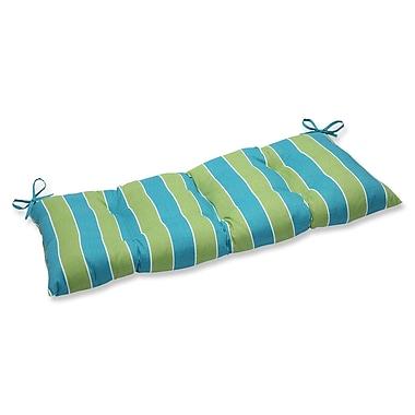 Pillow Perfect Wickenburg Outdoor Loveseat Cushion; Indigo