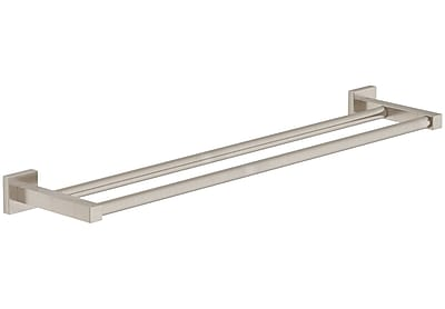 Symmons Duro Double 18'' Wall Mounted Towel Bar; Satin Nickel