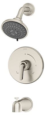 Symmons Elm Pressure Balance Tub and Shower w/ Lever Handle; Satin Nickel