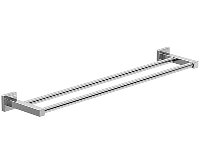 Symmons Duro Double 24'' Wall Mounted Towel Bar; Chrome