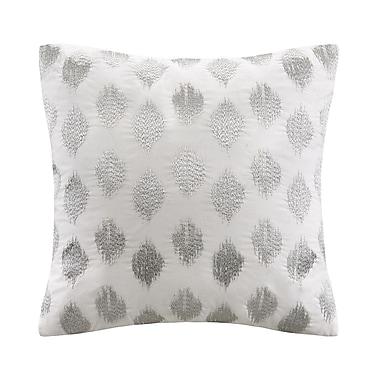 Ink + Ivy Nadia Dot 100pct Cotton Throw Pillow; Silver