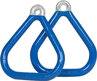 Swing Set Stuff Commercial Coated Triangle Trapeze Rings (Set of 2); Blue