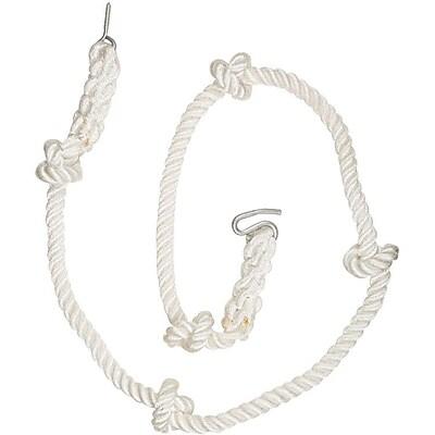 Swing Set Stuff Knotted Climbing Rope; White