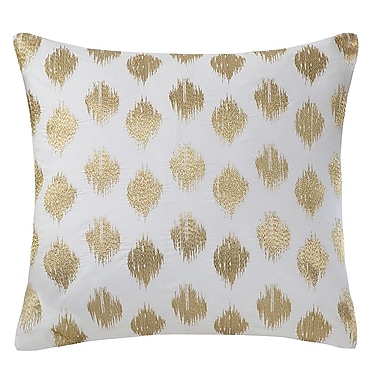 Ink + Ivy Nadia Dot 100pct Cotton Throw Pillow; Gold