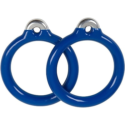 Swing Set Stuff Commercial Coated Round Trapeze Rings (Set of 2); Blue