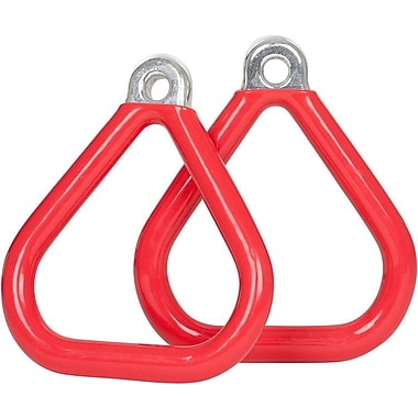 Swing Set Stuff Commercial Coated Triangle Trapeze Rings (Set of 2); Red