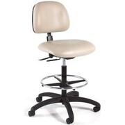 Intensa Height Adjustable Laboratory Stool w/ Seat and Back Tilt; Black Composite