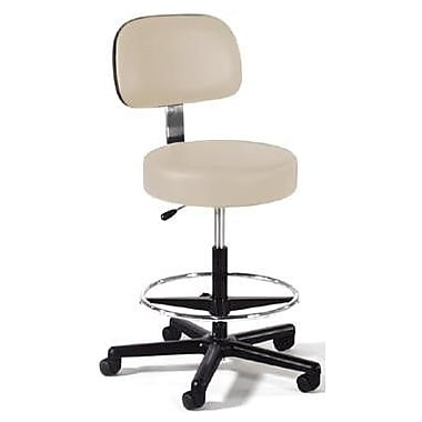 Intensa Height Adjustable Lab Stool w/ Single Lever Release; Black Composite