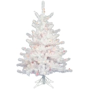 Vickerman Crystal White 2' Artificial Christmas Tree w/ Unlit