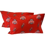 College Covers NCAA Ohio State Buckeyes Pillowcase (Set of 2); King